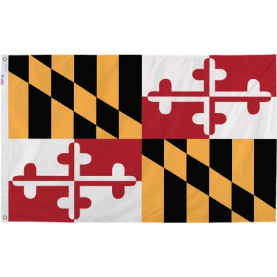 Valley Forge 3 Ft. x 5 Ft. Nylon Maryland State Flag
