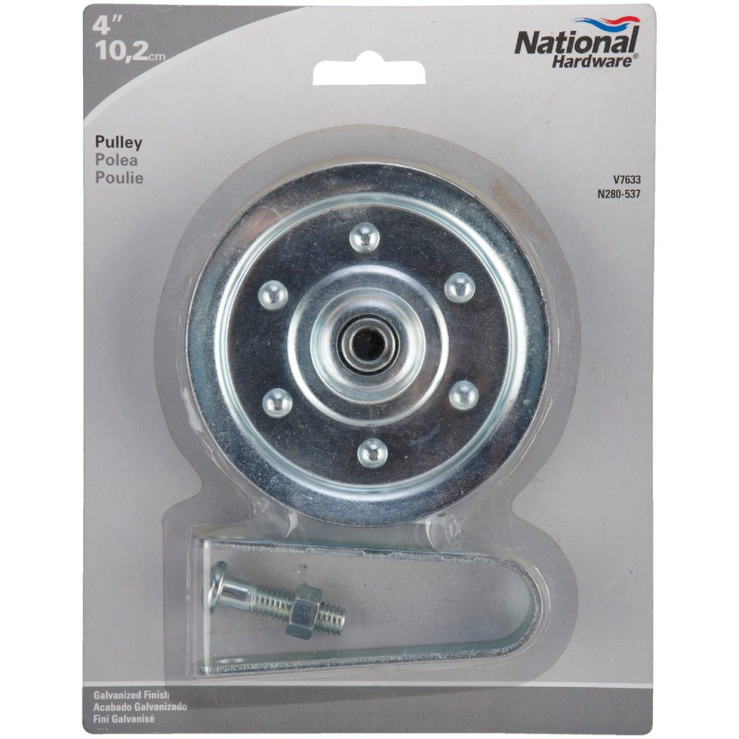 National 4 In. 2-Car Garage Door Pulley Image 2