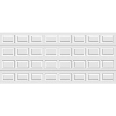 Holmes Gold Series 16 Ft. W x 7 Ft. H White Insulated Steel Garage Door w/EZ-Set Torsion Spring