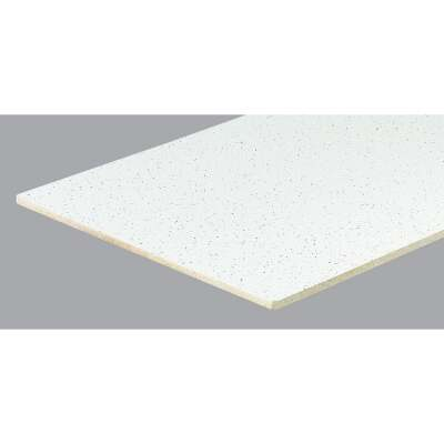 Radar Fissured 2 Ft. x 4 Ft. White Mineral Fiber Square Edge Suspended Ceiling Tile (8-Count)