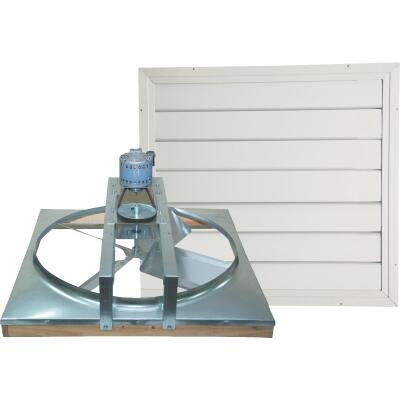 """Ventamatic Cool Attic 24"""" Belt Drive Up to 1800 sq ft Whole House Fan"""