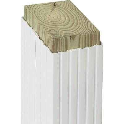 Beechdale 4 In. W x 4 In. H x 102 In. L White PVC Fluted Post Wrap