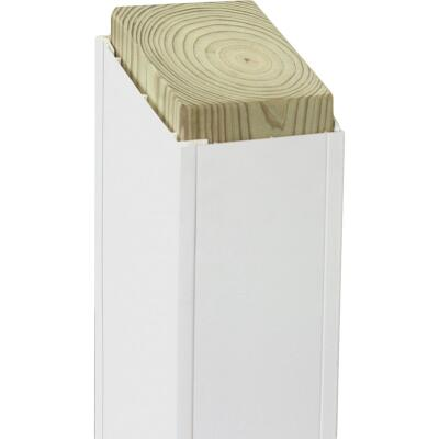 Beechdale 6 In. W x 6 In. H x 120 In. L White PVC Smooth Post Wrap