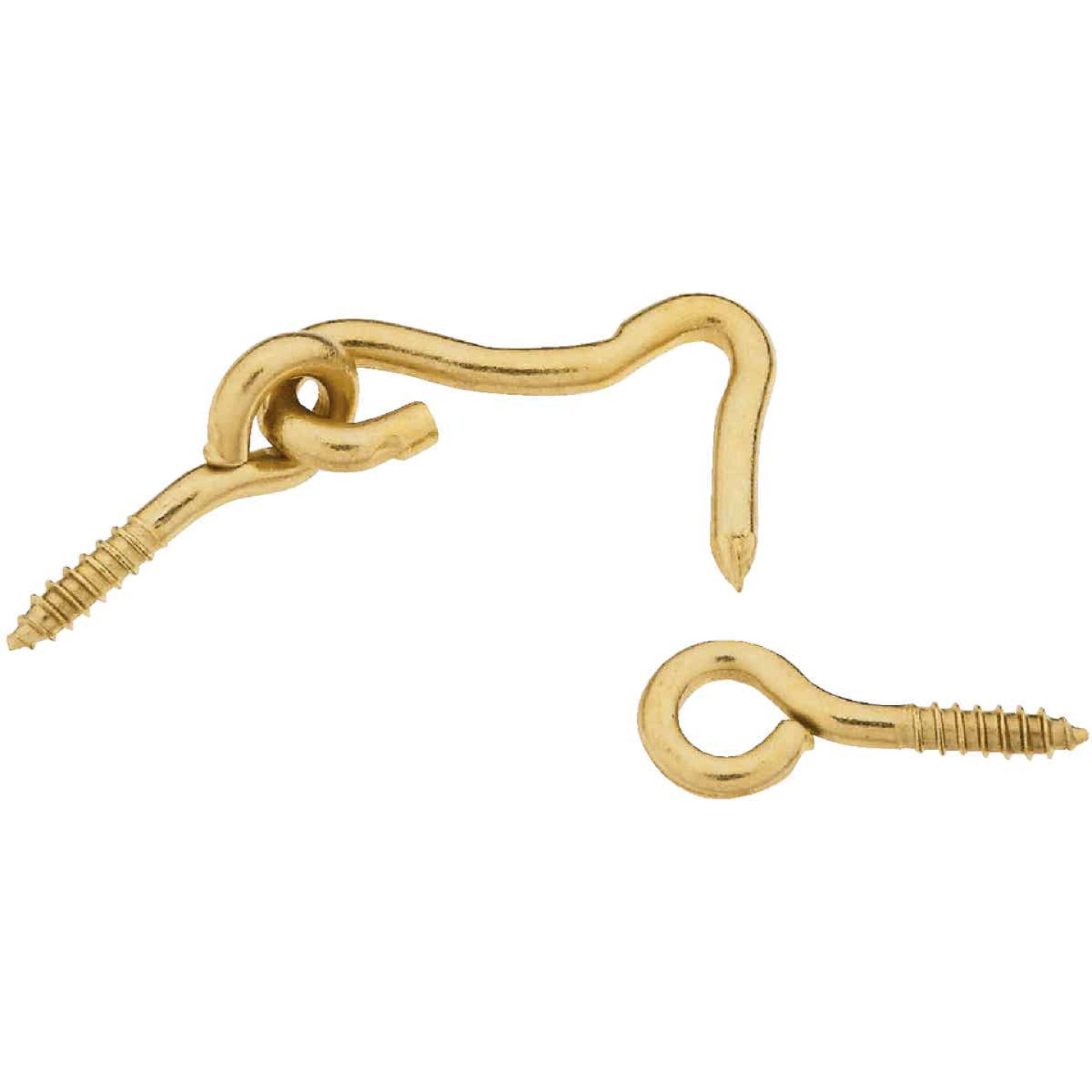 National Solid Brass 1 In. Hook & Eye Bolt (2 Ct.) Image 1