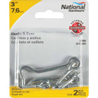 National 3 In. Steel Hook & Eye Bolt (2 Ct.) Image 2