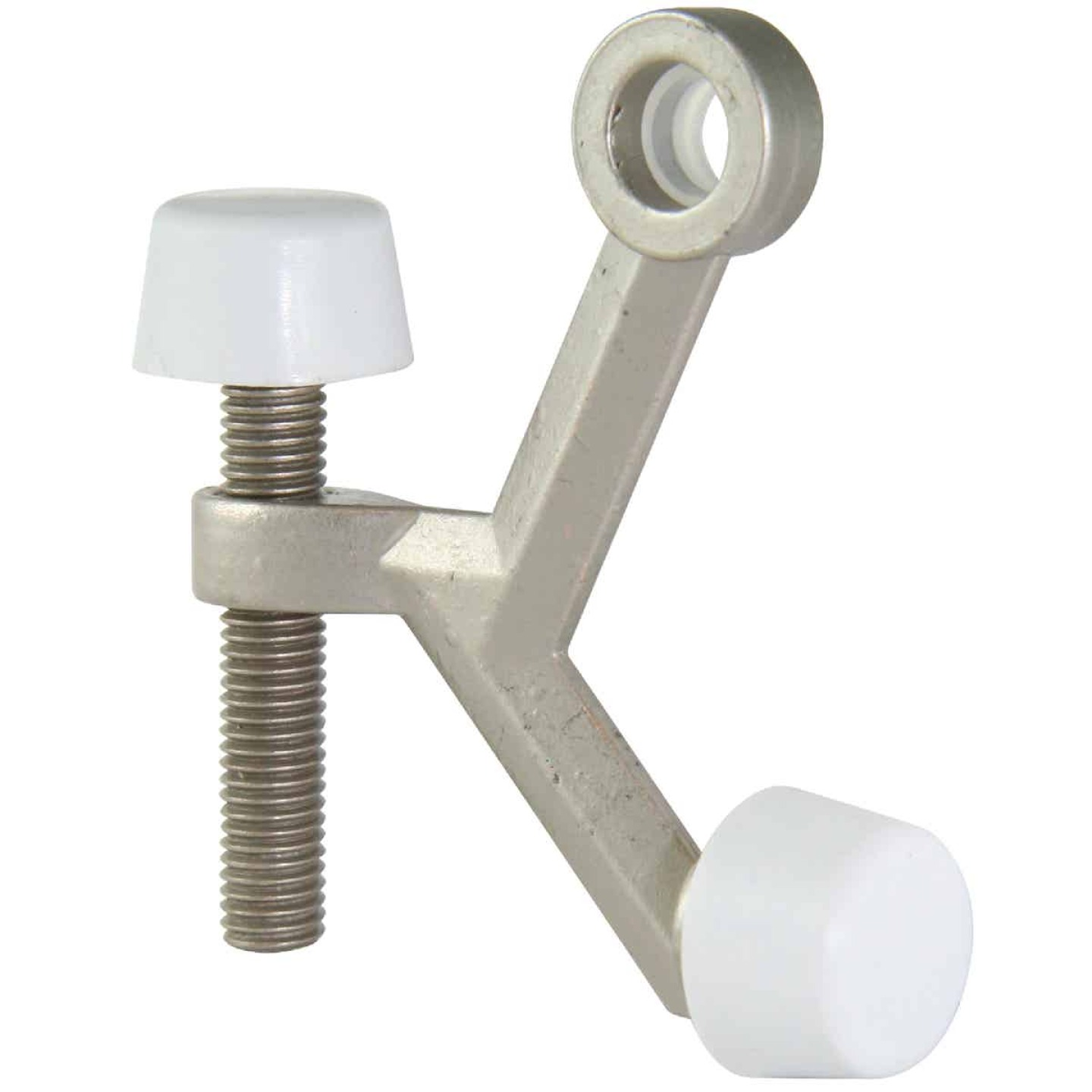 Ultra Hardware 3 In. Satin Nickel Hinge Pin Door Stop Image 1