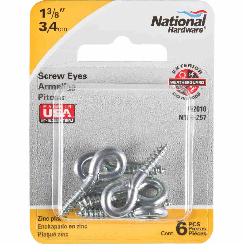 National #208 Zinc Small Screw Eye (6 Ct.) Image 2