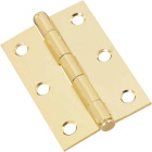 National 3 In. Brass Cabinet Hinge (2-Pack) Image 1