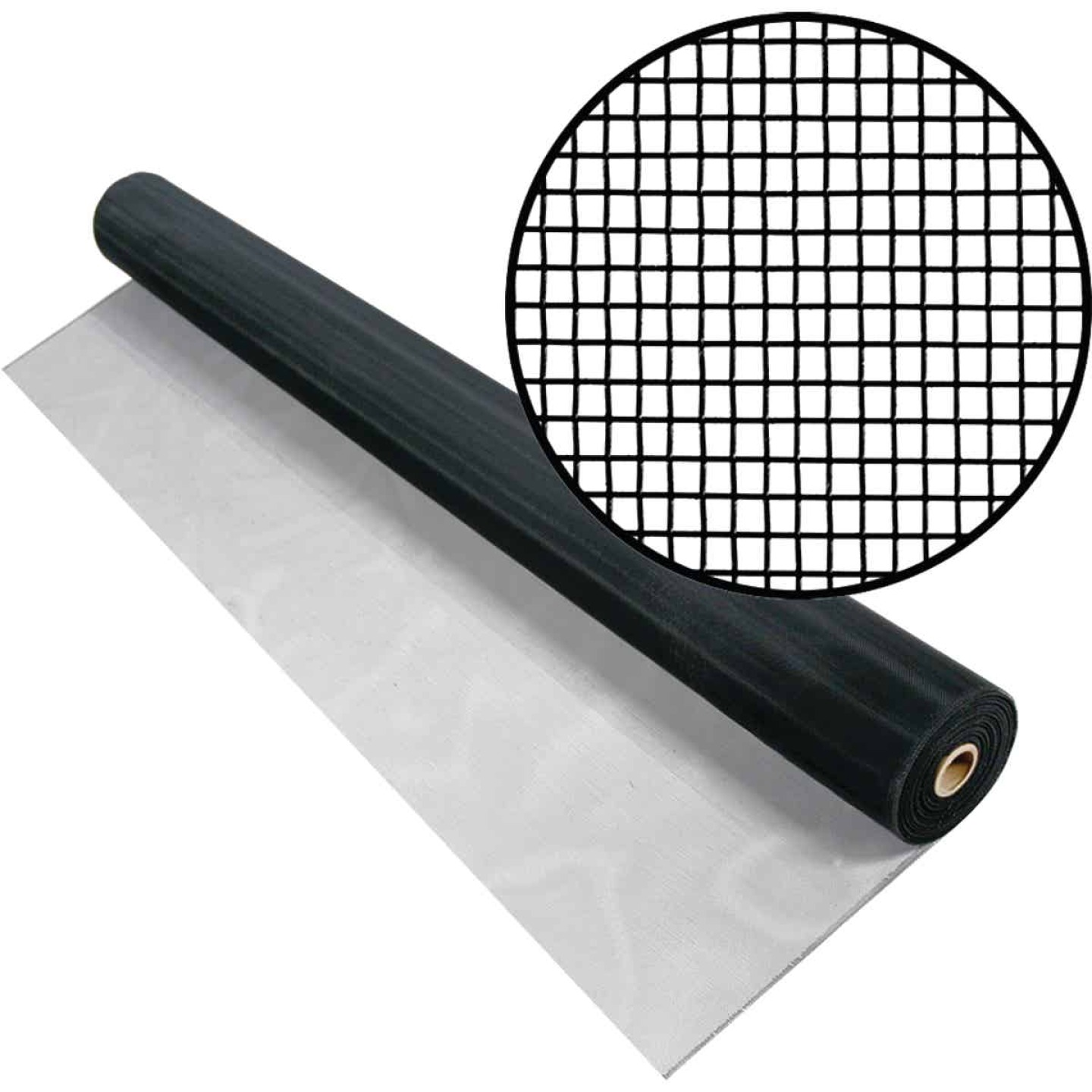 Phifer 48 In. x 100 Ft. Black Aluminum Screen Image 1