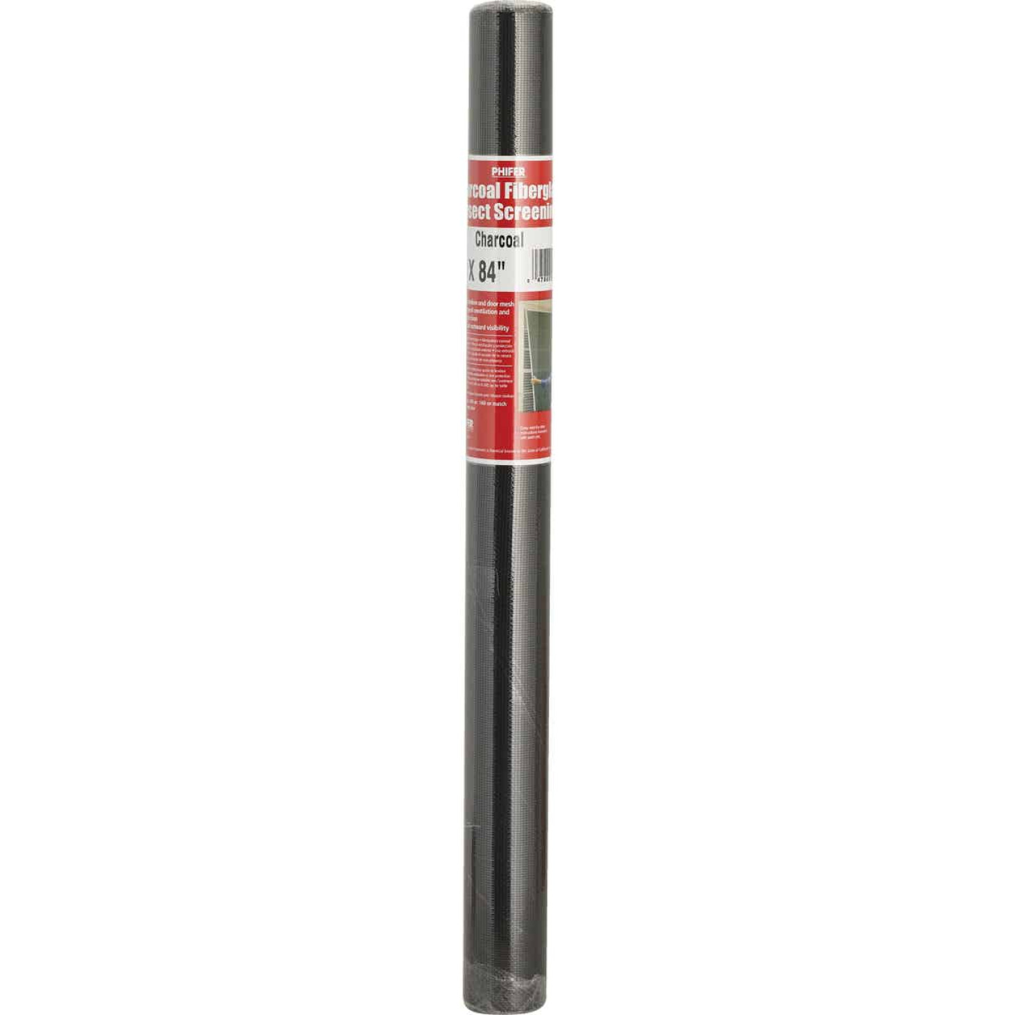 Phifer 24 In. x 84 In. Charcoal Fiberglass Screen Cloth Ready Rolls Image 2