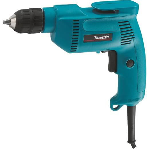 Makita 3/8 In. 4.9-Amp Keyless Electric Drill with Case