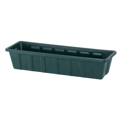 Novelty Poly-Pro 24 In. Polypropylene Hunter Green Flower Box Planter