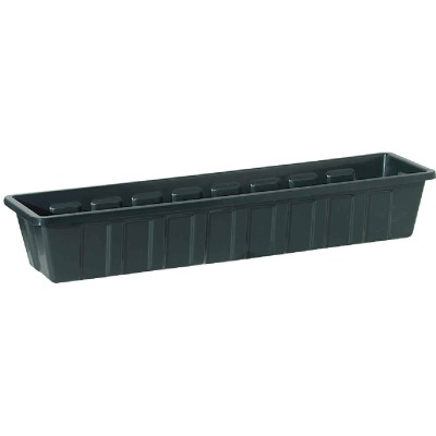 Novelty Poly-Pro 36 In. Polypropylene Hunter Green Flower Box Planter