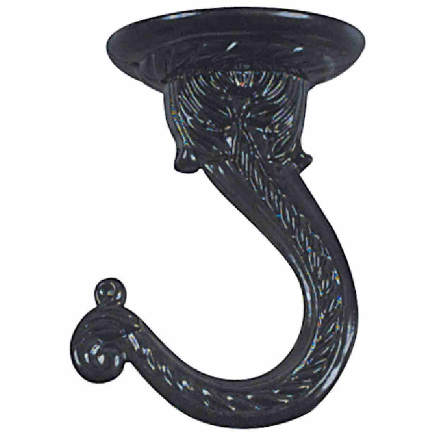 National 2-1/4 In. Black Die Cast Swag Hook Image 2