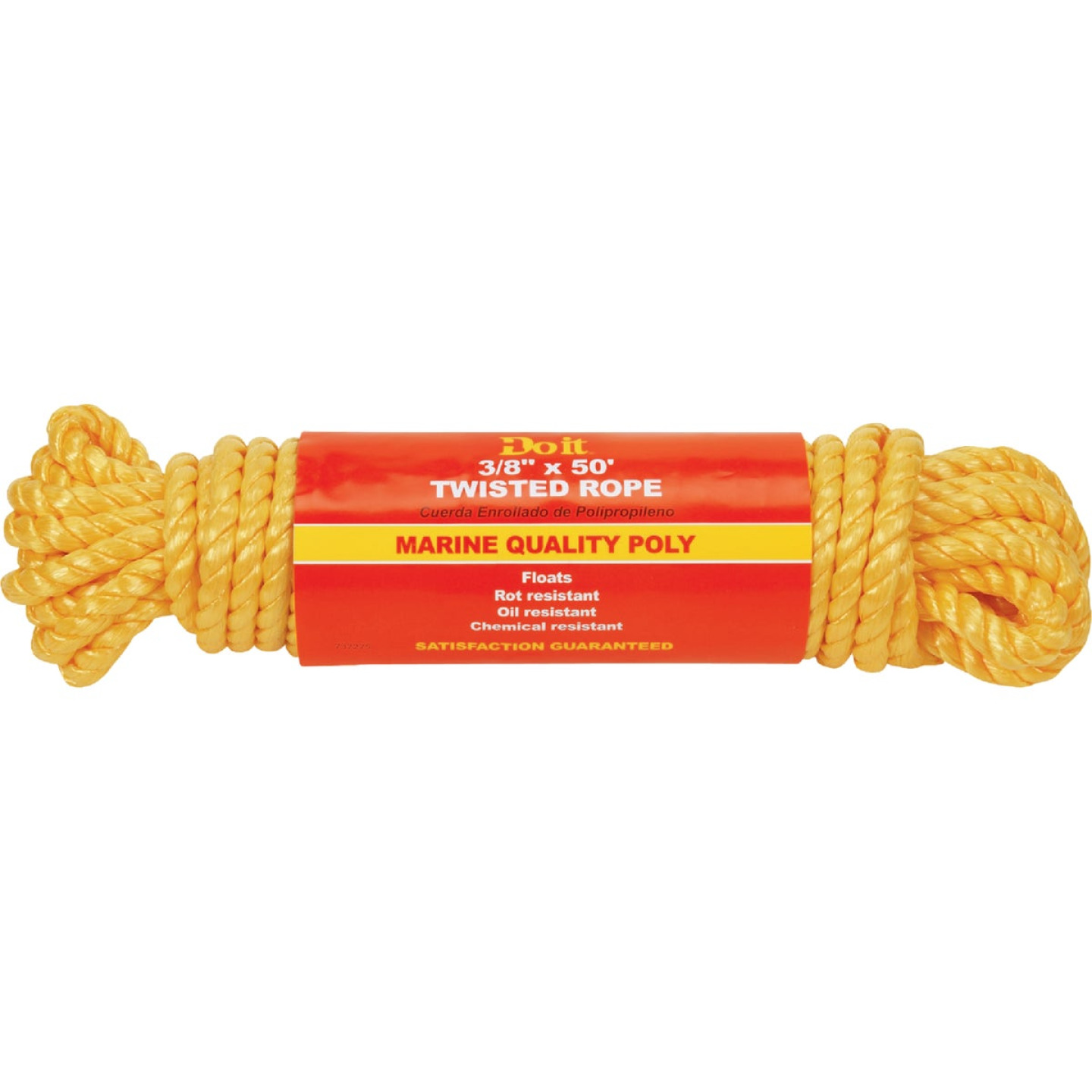 Do it 3/8 In. x 50 Ft. Yellow Twisted Polypropylene Packaged Rope Image 1
