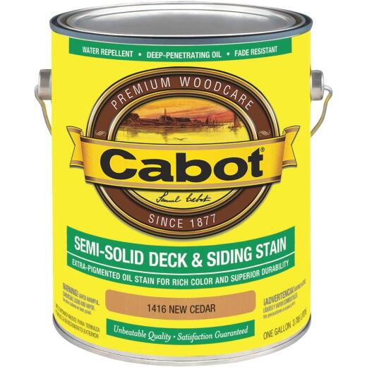Cabot Semi-Solid Deck & Siding Stain, New Cedar, 1 Gal.
