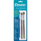 Premier Assorted Dark Ox Hair Artist Brushes (3 Pieces) Image 1
