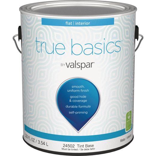 True Basics Flat Interior Wall Paint, 1 Gal., Tint Base