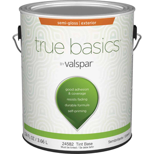 True Basics Semi-Gloss Exterior House Paint, 1 Gal., Tint Base