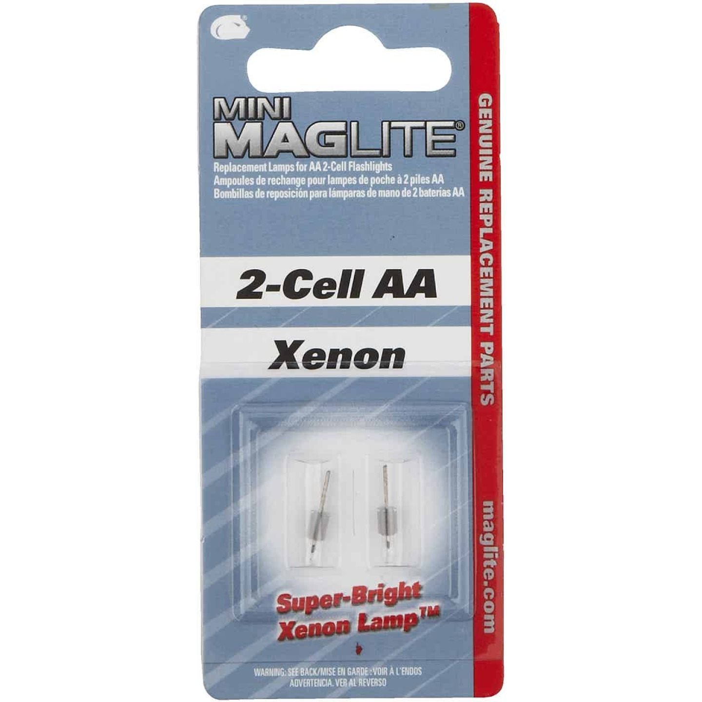 Maglite Mini Xenon 3V Replacement Flashlight Bulb (2-Pack) Image 1